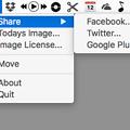 Photos: デスクトップに猫の写真付きカレンダーを表示するMacアプリ「Cal Cat」- 3:SNSで共有