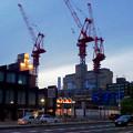 写真: 新しい建物を建設中の御園座(夜) - 1