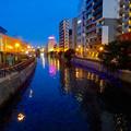 写真: 納屋橋:堀川沿いのイルミネーション - 1