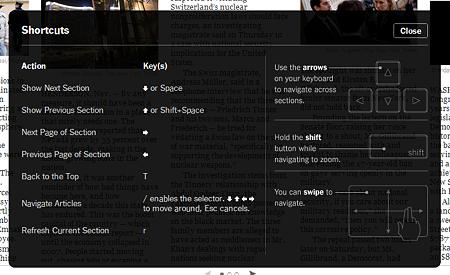 Chromeアプリ:NYTimes(ショートカット、拡大)