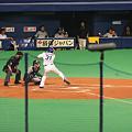 写真: IMG_1689 第一打席 暴投があり、二塁に井端が。s