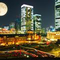 東京駅夜の7時