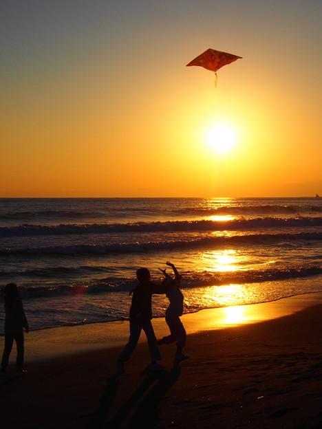 写真: 夕陽より高く
