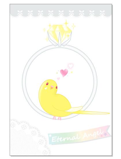 097ポストカード/Eternal ring/セキセイ・ルチノー