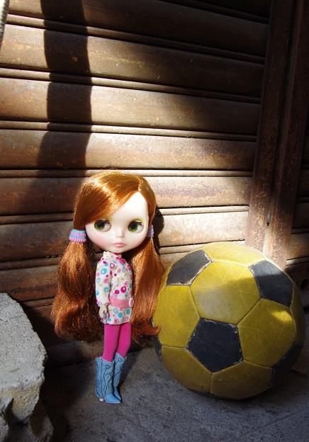 サッカーボールとブライス