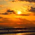 写真: 雲が多い晴れだった湘南・鵠沼海岸 #湘南 #藤沢 #海 #波 #surfing #wave #mysky