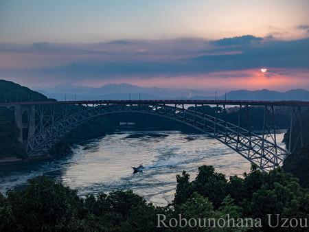 西海橋の日の出