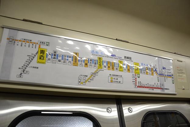 IGR・青い森鉄道路線図 (青い森701系 青い森701-5) [IGR 盛岡駅]