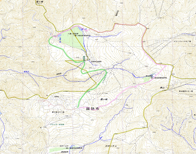 Photos: 霧ヶ峰の地図