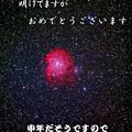 写真: 年賀用 NGC2174 モンキーフェイス星雲