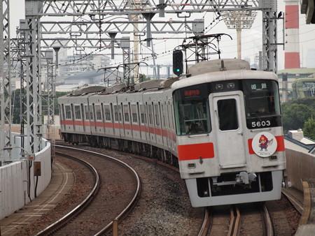 山陽5000系直通特急阪神本線大物駅01