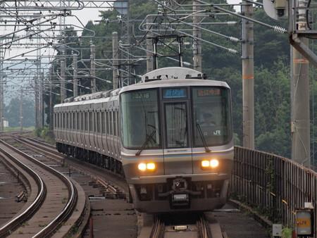 223系新快速 湖西線志賀駅