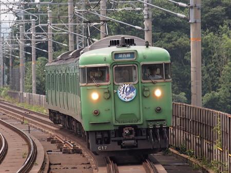 113系普通 湖西線40周年HM付き 湖西線志賀駅
