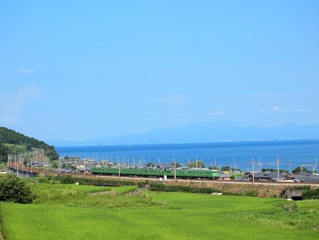 117系末茶色 湖西線北小松~近江高島