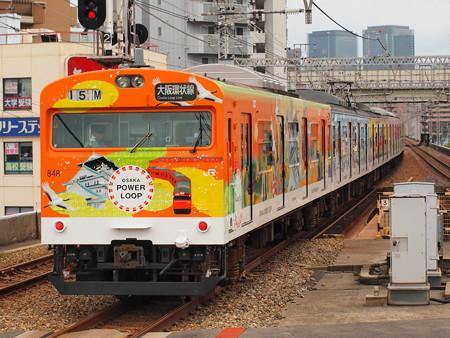 103系普通  OSAKA POWER LOOPラッピング 大阪環状線野田駅