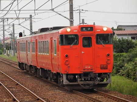 キハ47普通 山陰本線荘原駅