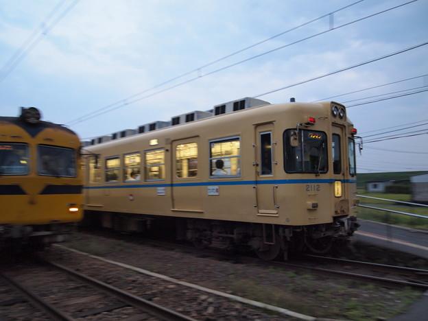 一畑電車2000系電鉄カラー 北松江線川跡駅