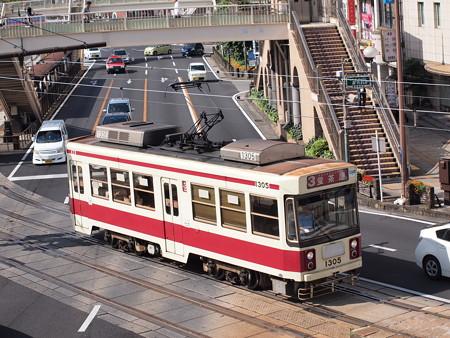 長崎電鉄1300形 長崎駅前