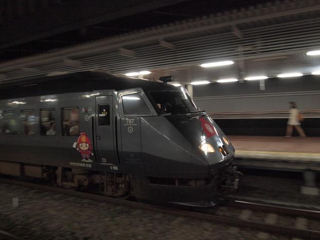 787系官兵衛ラッピング   鹿児島本線博多駅02