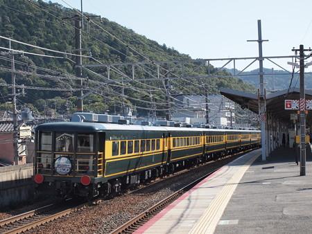 14系 サロンカーなにわ 東海道本線山科駅