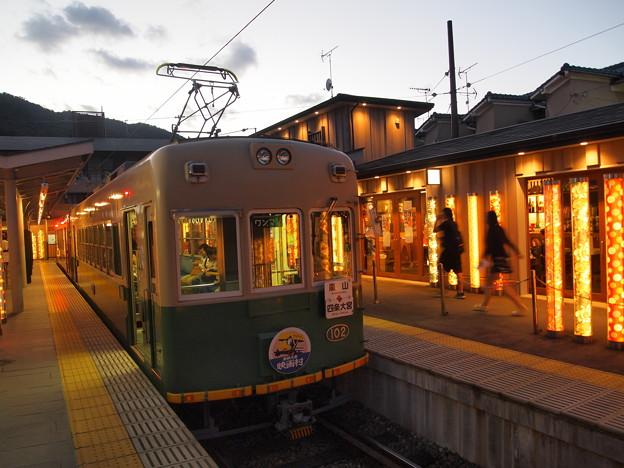 嵐電モボ101形 嵐山本線嵐山駅03