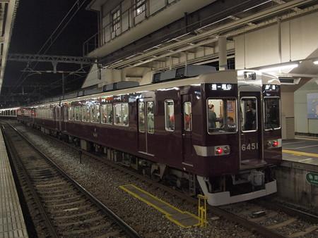 阪急6300系普通 阪急嵐山線桂駅01