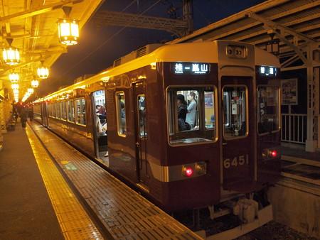 阪急6300系普通 阪急嵐山線嵐山駅03