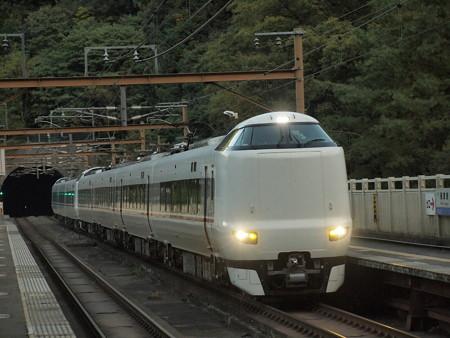 287系特急きのさき 山陰本線保津峡駅