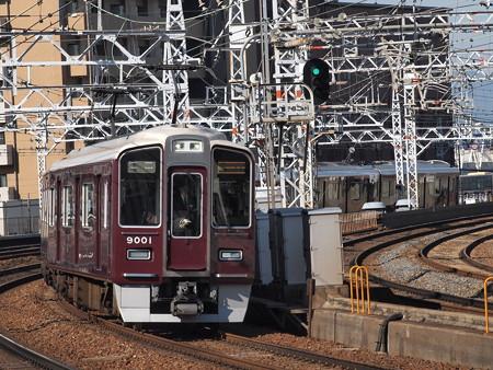 阪急9000系急行 阪急宝塚線中津駅
