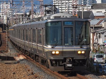 223系新快速 東海道本線塚本駅