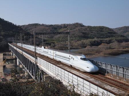 N700系さくら 山陽新幹線新倉敷~岡山