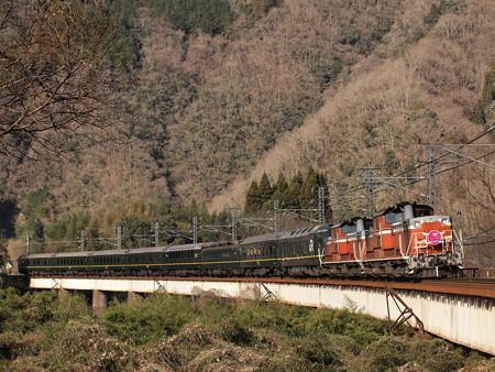 DD51 トワイライトエクスプレス 伯備線方谷~備中川面01