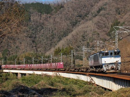 EF64貨物 伯備線方谷~備中川面01