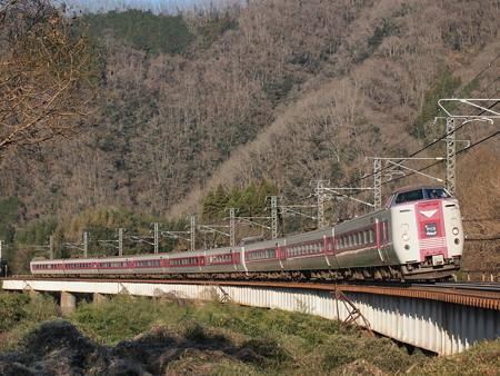 381系特急やくも 伯備線方谷~備中川面04