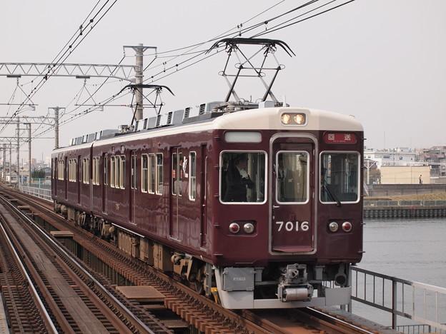 阪急7000系試運転 阪急神戸線神崎川駅