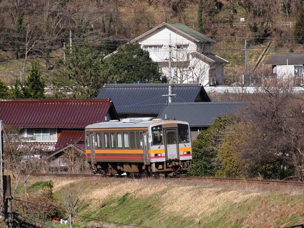 キハ120 芸備線備中神代駅