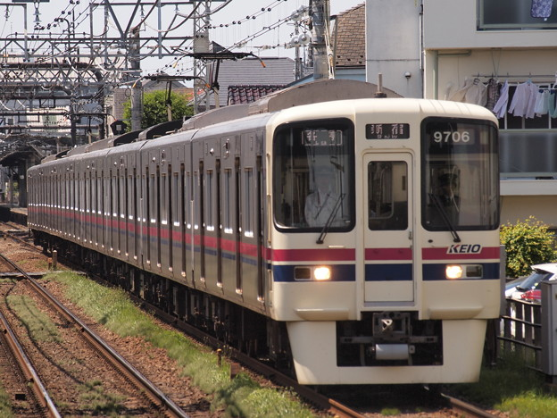京王9000系各停 京王線西調布駅01