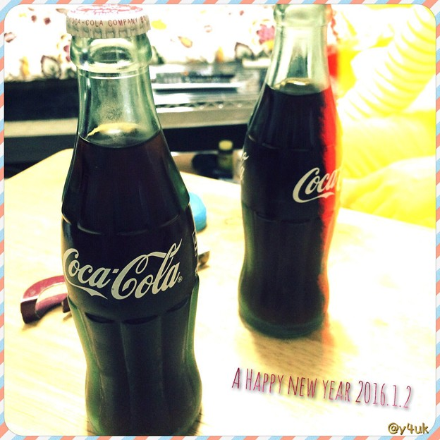 A Happy New Year 2016.1.2 in Coca-Cola best my friend ~瓶で乾杯