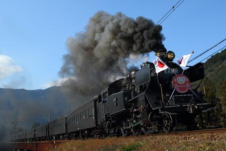 大井川鐵道 SLかわね路1号 C11 190 門デフ 正月仕様