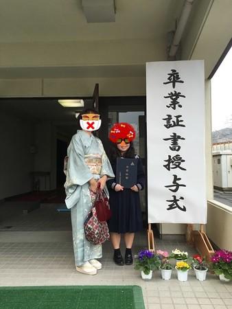 長女卒業式
