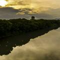 夕景渡良瀬川