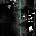 写真: 螺旋階段「工場萌え扇町」