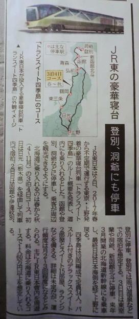 トランスイースト四季島の記事