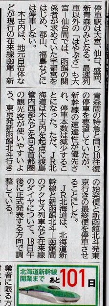 北海道新幹線記事(時刻).2