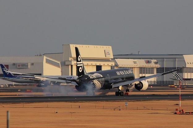 AIR NEW ZEALAND 787-9 Landing at NRT