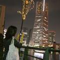 Photos: 美女とランドマークタワー