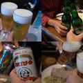 写真: 世界のビールで乾杯