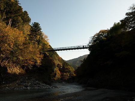 橋を眺める