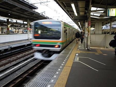 E231系東海道線(横浜駅9番線)