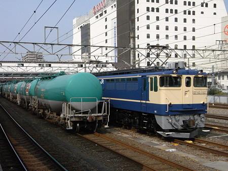 EF65-1007とタキ1000(八王子駅)